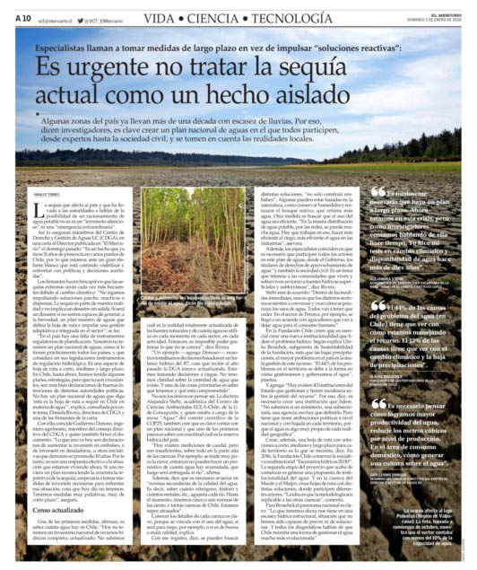 sequía en Chile