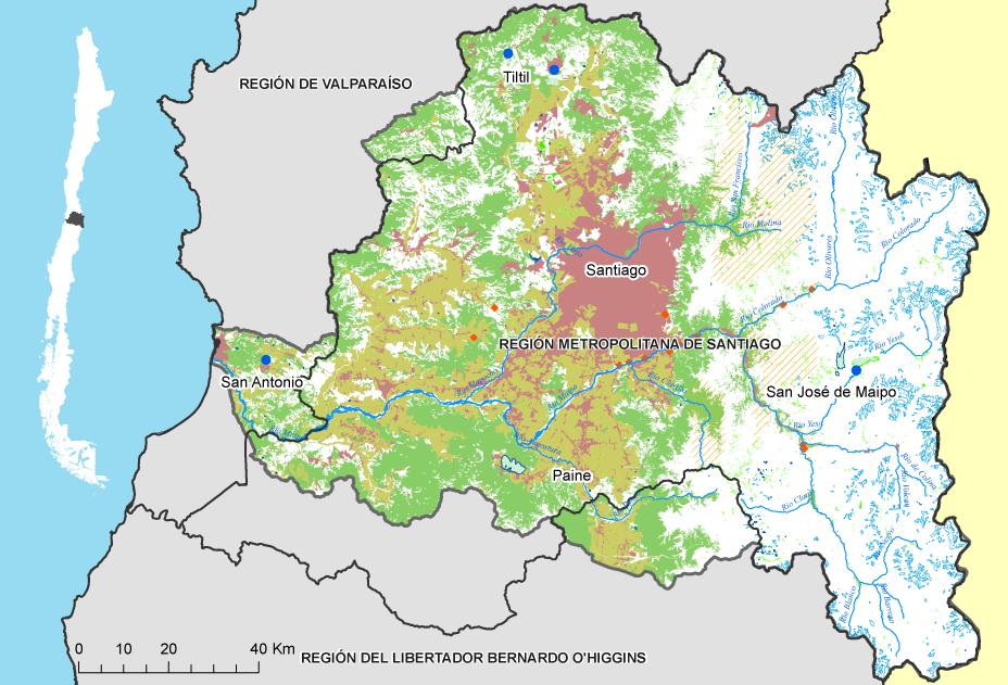 Mapa Maipo