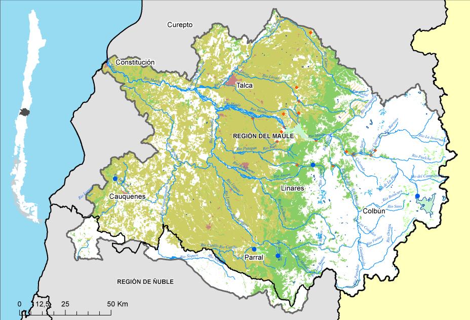 Mapa Maule