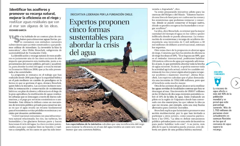 noticia: crisis del agua en Chile
