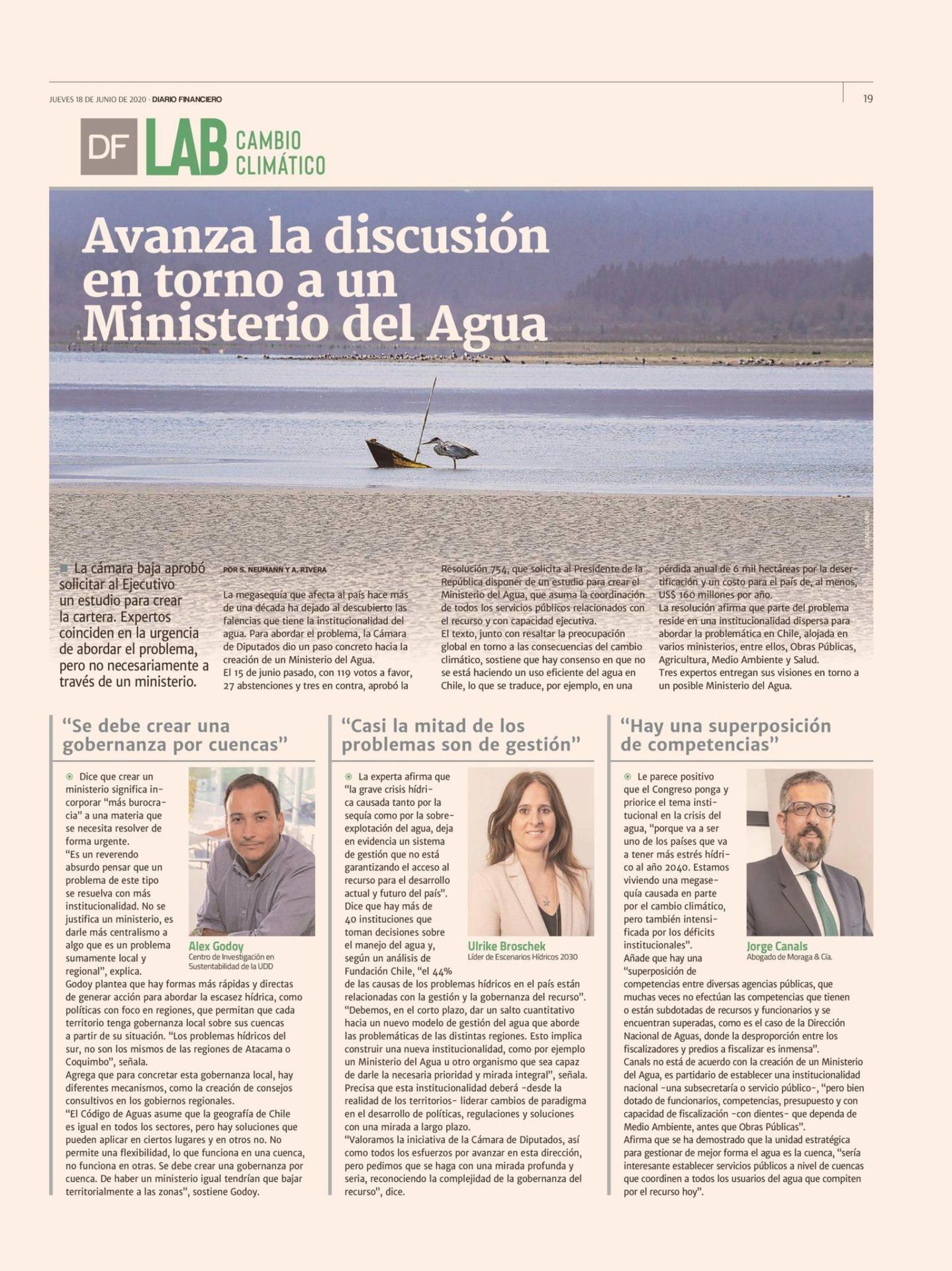 Discusión en torno a un Ministerio del agua