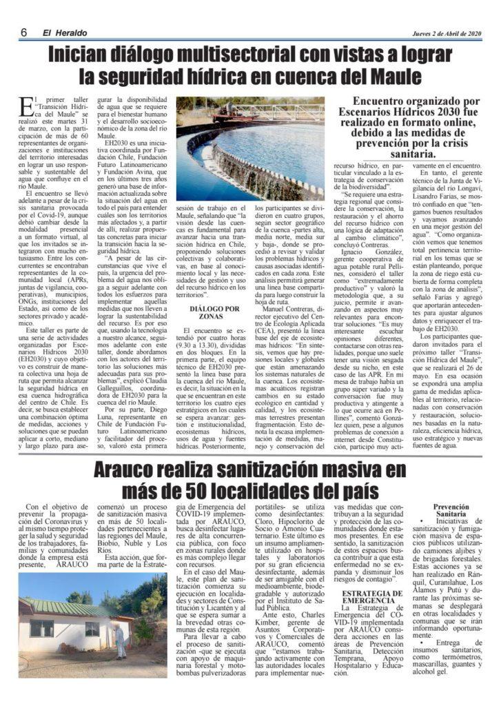 Noticia: seguridad hídrica