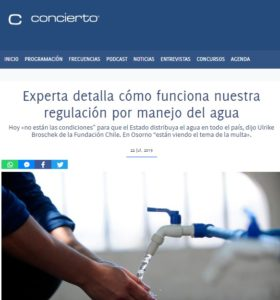 manejo del agua en Chile