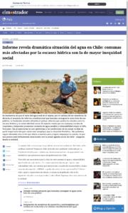 Noticia: Escasez de agua